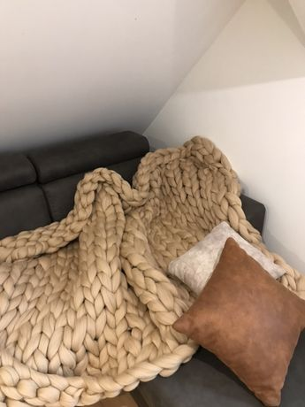 Koc z wełny czesankowej 180x130cm