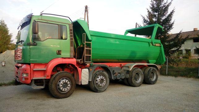 USŁUGI TRANSPORTOWE 18 ton 4-ośka piach koparko ładowarka minikoparka