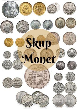 Skup SREBRNYCH i ZŁOTYCH monet, banknotów odznaczeń odznak