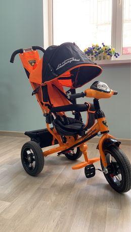 Детский трехколесный велосипед коляска Lamborghini Trike LP20