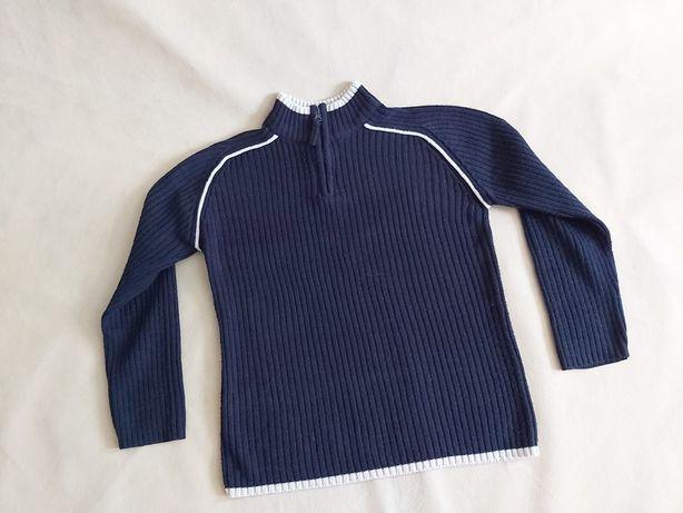 Chłopięcy sweter granatowy  146-152
