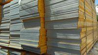 Blat trójwarstwowy 200 x 50 okuwany nowy strop szalunki sklejka