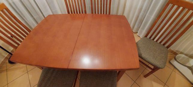 Stół drewniany 6 krzeseł