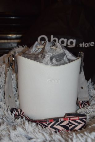O bag o basket torebka białe body szary wkład