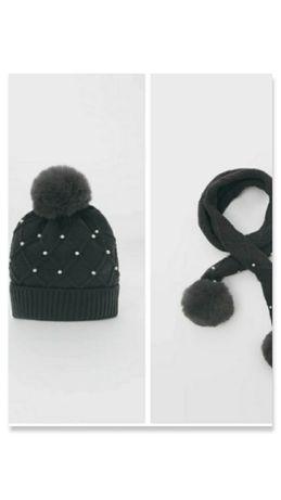 Комплект новый шапка и шарф Zara,next,hm c 8 лет