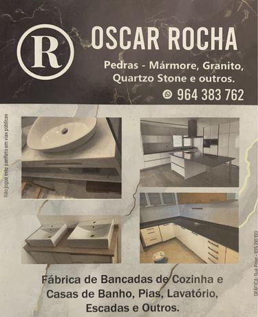Bancada de Cozinha e Casa de Banho - Pedras Marmores, Granito e Outros