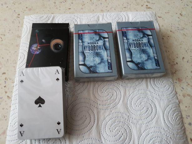 Karty do gry trzy talie