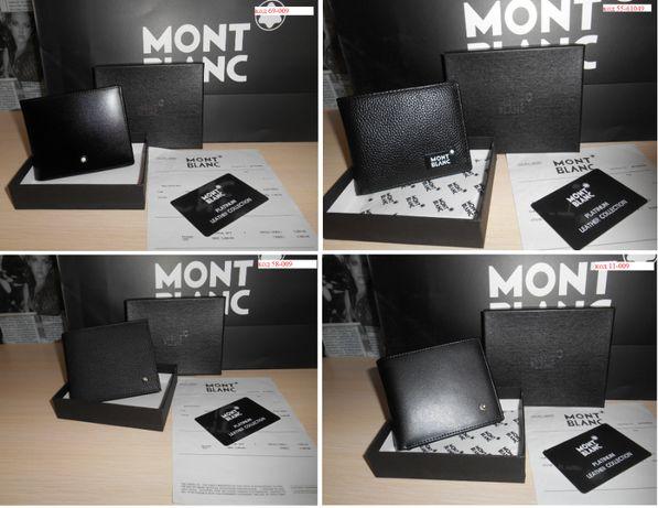 Мужской кошелек, портмоне, бумажник Mont Blanc, кожа, Италия 004