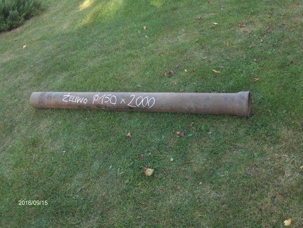 Rura żeliwna prosta kanalizacyjna kielichowa fi 150x2000