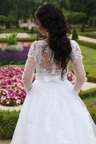 Eleganska ślubna suknia 2w1