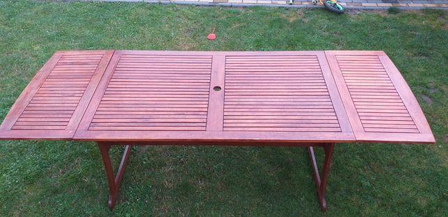 Stół ogrodowy drewniany rozkładany Jutlandia