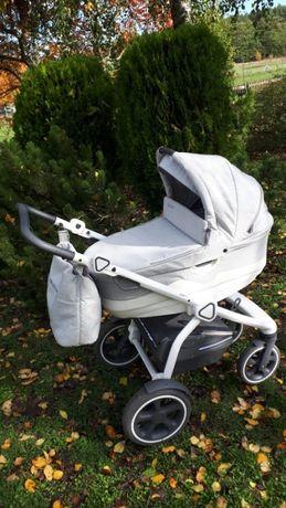 szaro biały wózek dziecięcy Jedo Trim