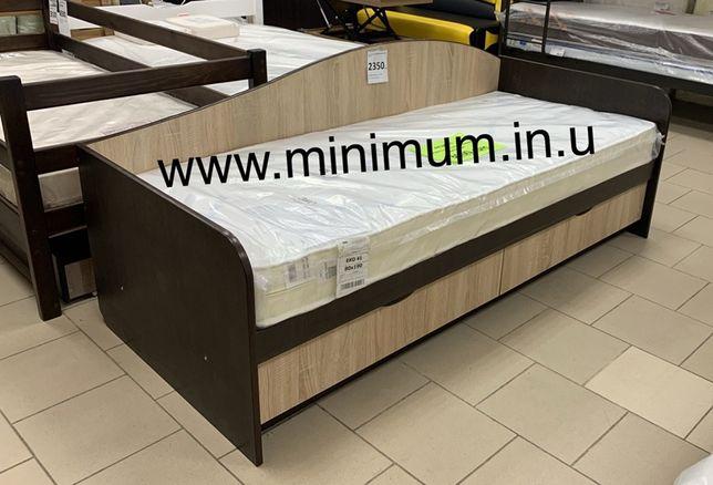 Кровать с ящиками и ортопедическим матрасом