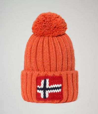 Оригинальная шапка Napapijri Semiury 3 Orange Clay (NP0A4EMBAA5)