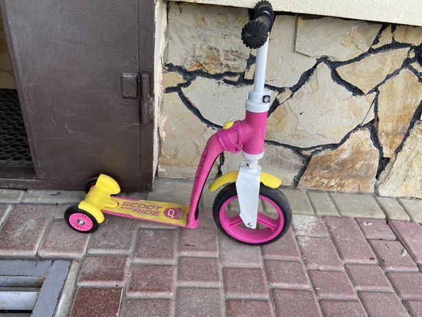 Самокат 2 в 1 skoot and ride самокат-велобег для девочки
