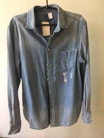 Рубашка джинсова h&m ( рубашка джинсовая)