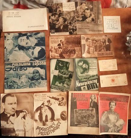 Rozkładówka filmowa reklama PRL l.50te Zaproszenie Józef Stalin Chopin