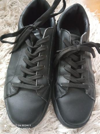 Buty 4f czarne skórzane