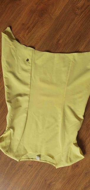 Cytrynowa bluzeczka z dlyzszymi bokami S