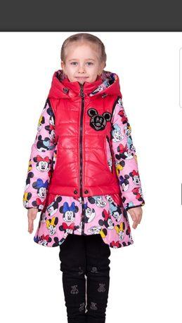 Яркая курточка-трансформер 3 в 1  на девочку
