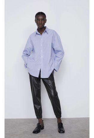 Кожаные штаны джогерры Zara