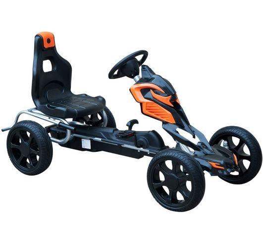 Carro pedal assento ajustável, 122x60x70 cm embraiagem e travão