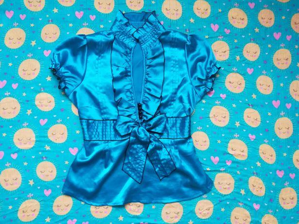 Elegancka turkusowa bluzka L