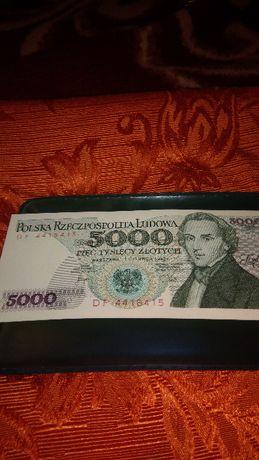 10,20,50,100,500,1000,5000 zł Kolekcja Banknoty UNC z prl NUMIZMATYKA