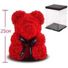 Мишка з троянд, 25 см