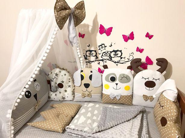 Бортики іграшки бортики игрушки зверята подушки защита в кроватку