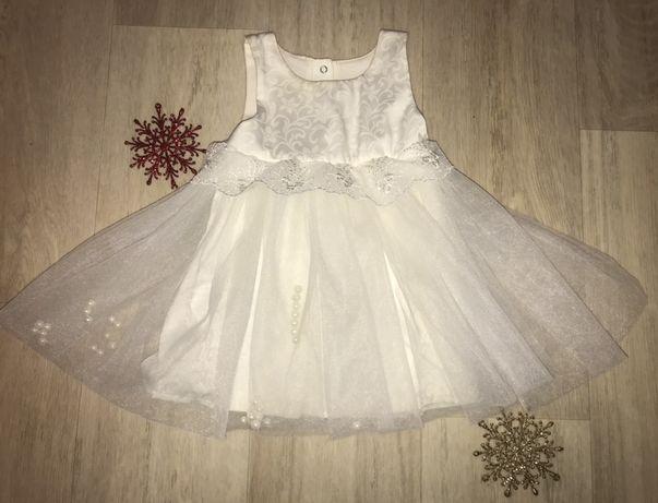 Платье для малышки 1-3 месяца на крестины,очень нежное