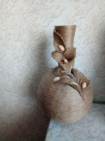 декоративные вазы з джута