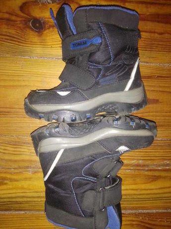 Зимние теплые ботинки на липучке Tom.M синие