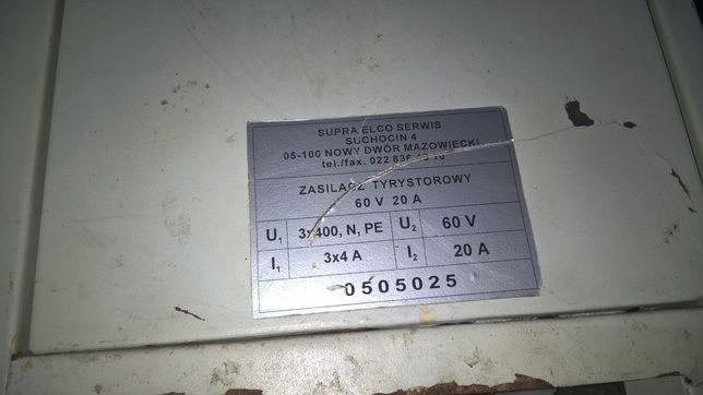 Zasilacz tyrystorowy transformator 60V 20A