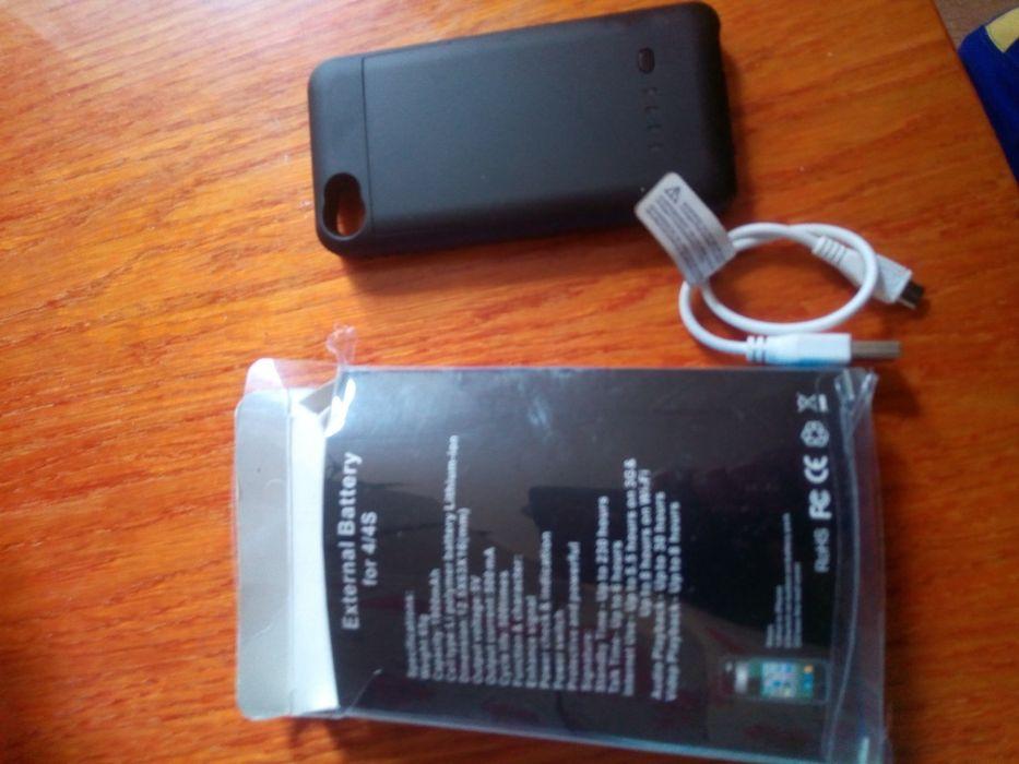 Продам новый чехол со встроенным аккумулятором на Айфон 4S ,4 . Беловодск - изображение 1