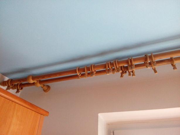 Karnisz drewniany dł. 276 cm