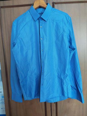 Рубашка мужская, новая! Цвет голубой. Размер L (48-50)