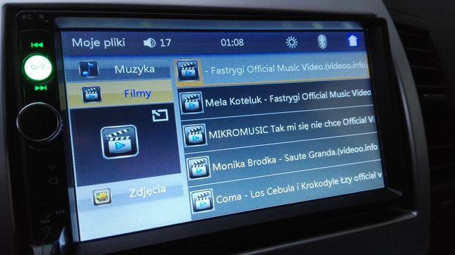 ekran 7cali DOTYKOWE radio samochodowe 2din MP5 BLUETOOTH MP3 DIVX