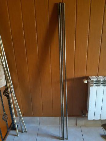 Karnisze (rurki) ø16 i ø19 o długości 160cm + żabki TYLKO 25zł