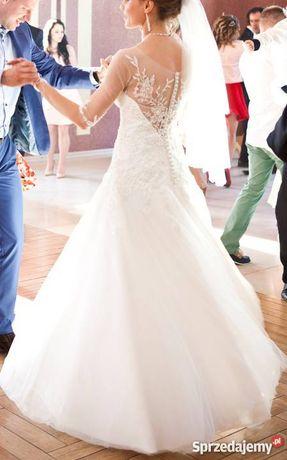 Suknia ślubna Nabla Firne śmietankowa biel r. 36+welon+halka+GRATIS
