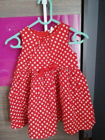 Sukienka w kropki H&M 86