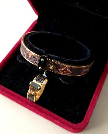 LV zestaw bransoletka plus pierścionek roz 18 nowy w pudełku