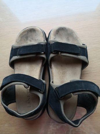 Buty sandały Gino Lanetti, 35 gruba podeszwa, skóra