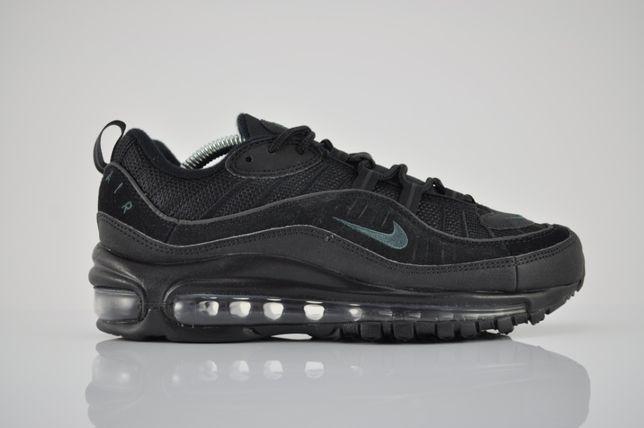 "Nike Air Max 98 ""Black/Anthracite"" 38,5 39 nowe czarne am98 PURRFECT"
