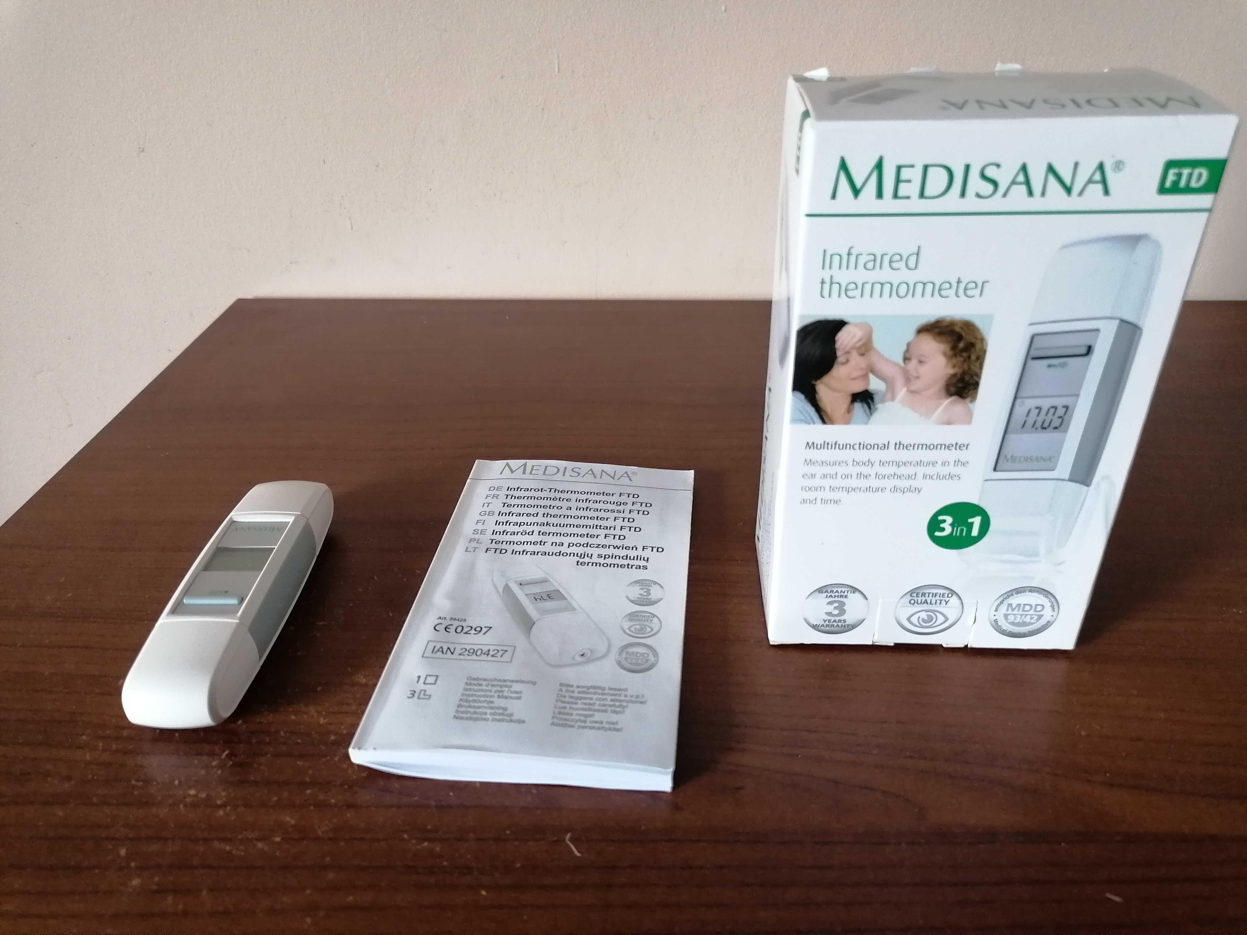 """Bezdotykowy termometr """"Medisana"""" w pudełku"""