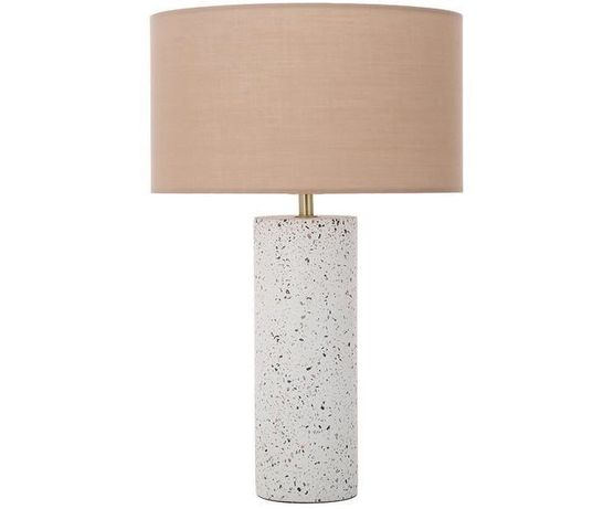 Lampa stołowa  beżowa  lastriko lastryko mozaika