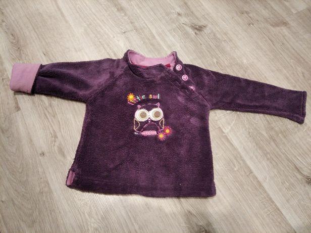 Śliczna ciepła bluza z sówką sową r. 80 Smyk/baby club