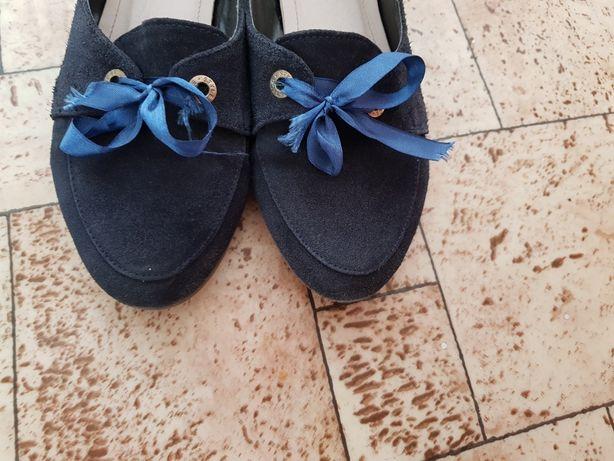Туфли женские лоферы 40 натуральная замша