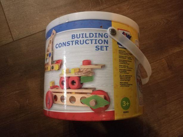 Klocki drewniane Building Set 100 elementów