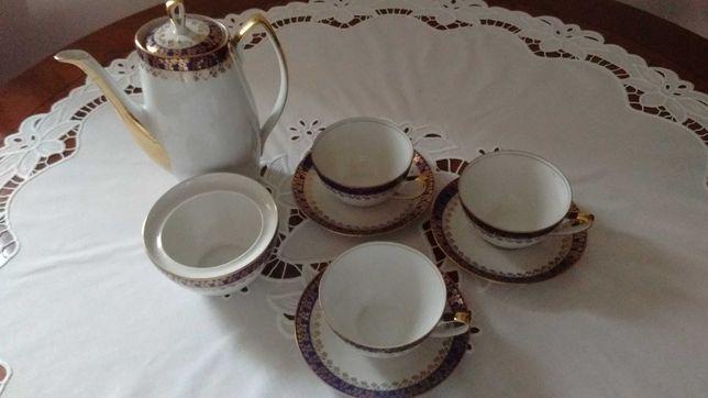 Serwis kawowy Aldona Chodzież Porcelana Prl
